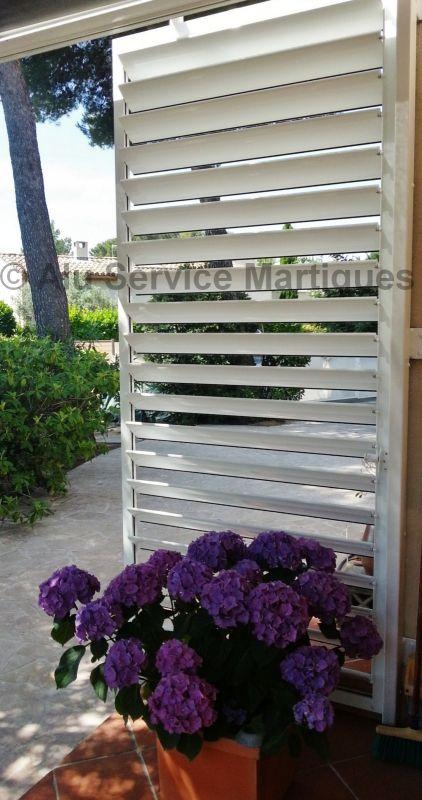 Bso brise soleil a lames orientables aluminium sur - Brise soleil terrasse ...