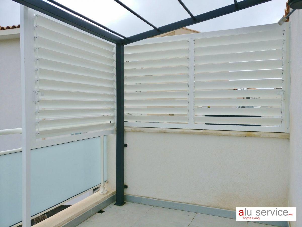 brise vue soleil aluminium pour terrasse et jardin a marseille fermeture de terrasse. Black Bedroom Furniture Sets. Home Design Ideas