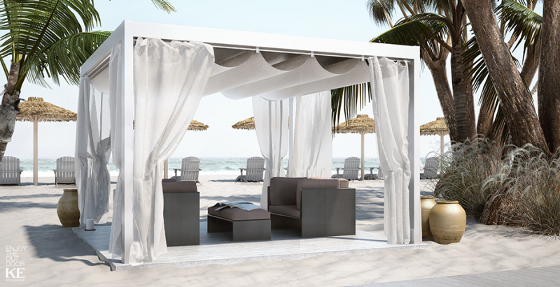 pergola saki en aluminium a toile retractable fermeture de terrasse marseille alu service. Black Bedroom Furniture Sets. Home Design Ideas