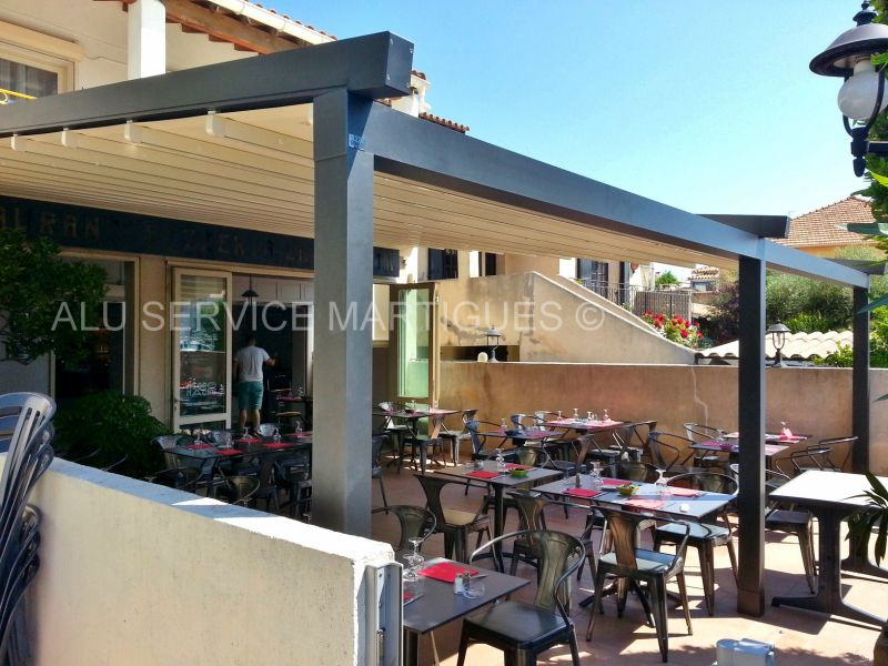 restaurant la pignata martigues pergola aluminium fermeture de terrasse marseille alu service. Black Bedroom Furniture Sets. Home Design Ideas