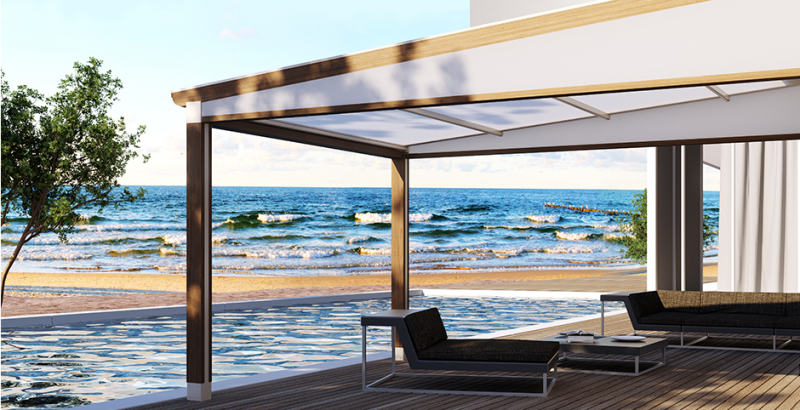 pergola bioclimatique en bois avec toile retractable fermeture de terrasse marseille alu service. Black Bedroom Furniture Sets. Home Design Ideas