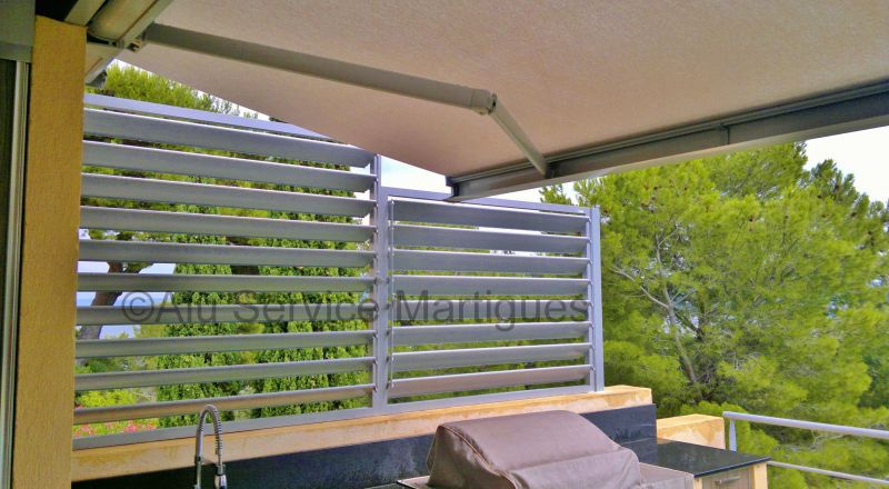 brise vue a lames orientables fermeture de terrasse marseille alu service. Black Bedroom Furniture Sets. Home Design Ideas