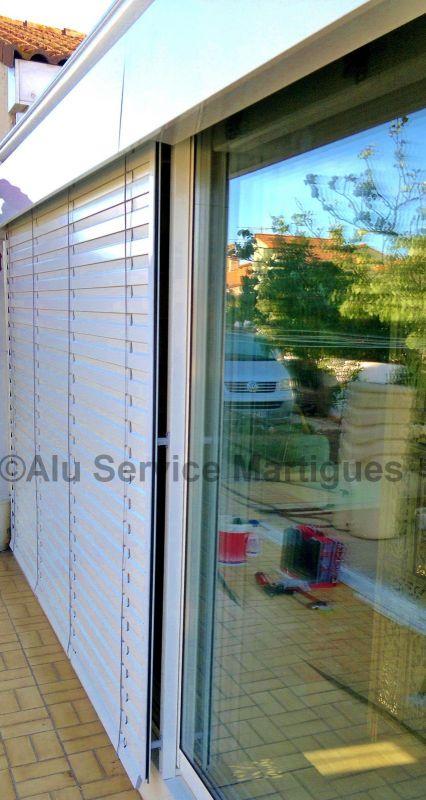 Bso brise soleil orientable fermeture de terrasse - Brise soleil terrasse ...